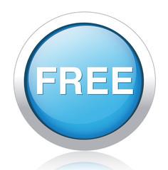 free blue circle web glossy icon