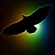 eagle silhouette  abstract background