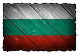 Bulgaria Flag painted on wooden tag