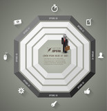 Octagons template for business concept template