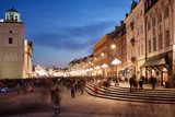 Fototapety City of Warsaw in Poland at Night