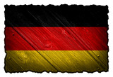 Germany flag painted on wooden tag
