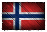 norway flag painted on wood tag