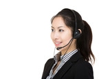 Asia female customer service