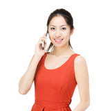 Asia woman talking to phone