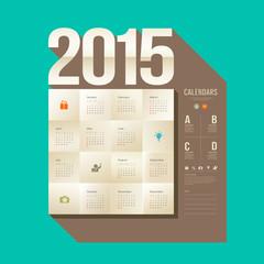 Calendar 2015, origami paper square design