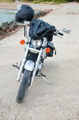 Motorbike near a sea