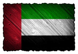 United Arab Emirates Flag painted on wood tag