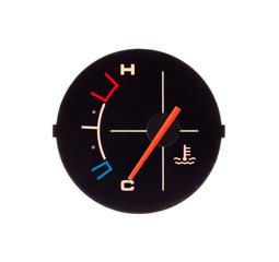 Temperature guage of a motorbike