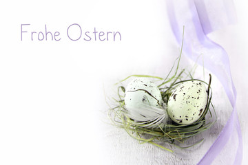 frohe ostern nest