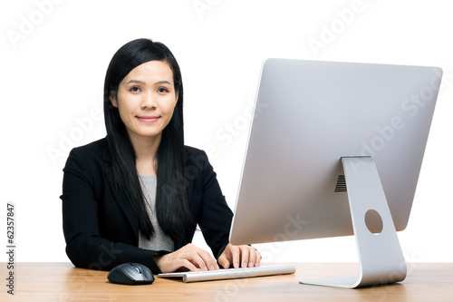 Asia businesswoman using computer