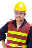 Asian construction worker
