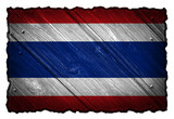 Thailand Flag painted on wood tag