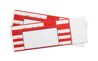 Blank Red Concert Tickets © pixelrobot