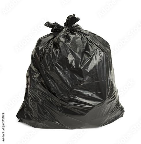 Leinwanddruck Bild Black Trash Bag