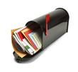 Full Black Mailbox