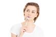 Woman with a teaspoon