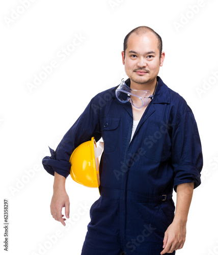 Asia construction worker portrait