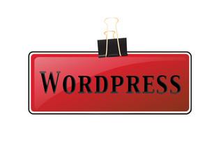 Letrero clip wordpress