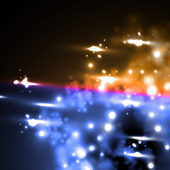 meteor rain in neon style