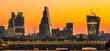 Obrazy na płótnie, fototapety, zdjęcia, fotoobrazy drukowane : London Skylines at dusk England UK