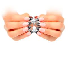 Hände mit Diamant