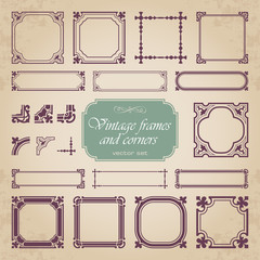 Frames and corners in vintage style