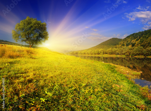Leinwanddruck Bild summer landscape