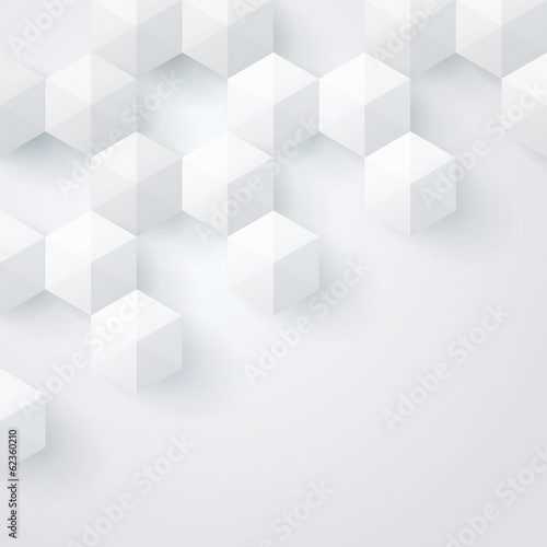 White geometry background. Vector background.