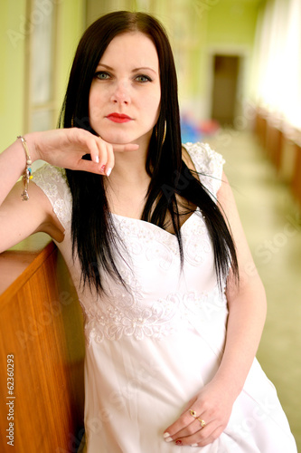 Beauty Woman with Healthy and Shiny Smooth Black Hair.