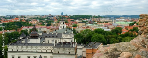 Vilnius city panorama from Gediminas hill.