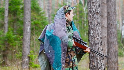 Recruit with optical rifle in the woods episode 4