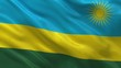 Flag of Rwanda waving in the wind - seamless loop