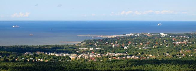 Panoramic view of Tallinn town in summer. Estonia