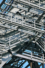 Steel structure detail of factory