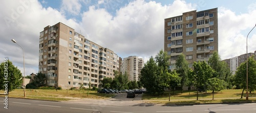 Typical Blocks of Flats Built During Communism Period in Vilnius