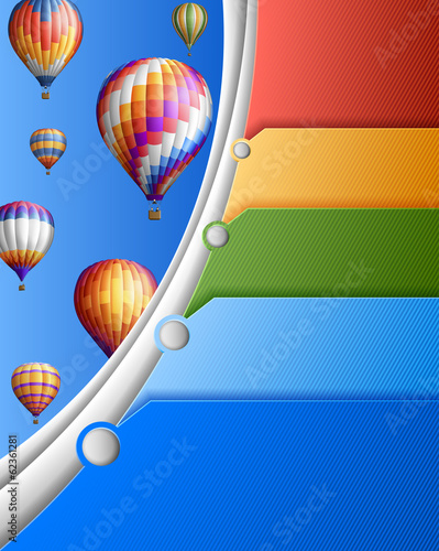 Business template with balloons