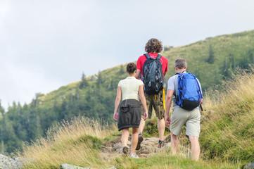 Wanderer im Bergland