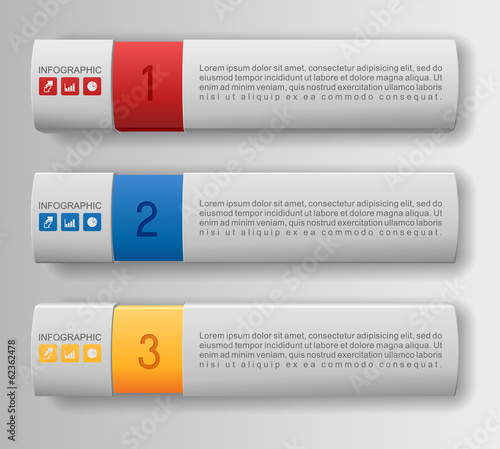 Infographics options banner