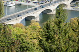 Bridge over The Main River in Wuerzburg, Germany