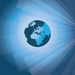 Sun Rays and Earth - 3D Business Abstract Background