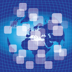 3D Abstract Earth Globe Business Background