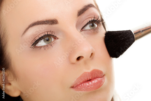 Applying Make-up Cosmetics Brush