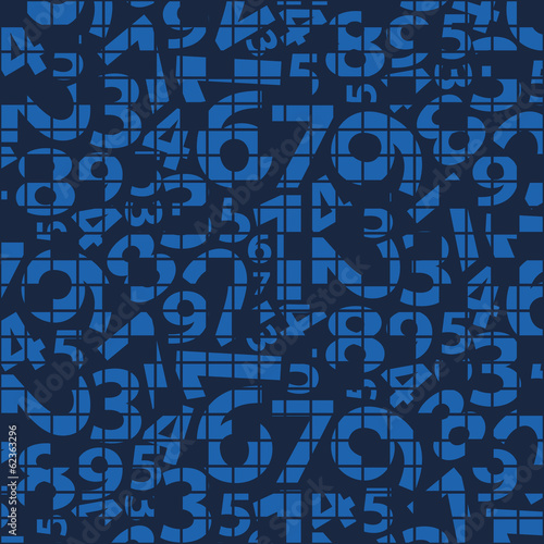 Background With Blue Numbers