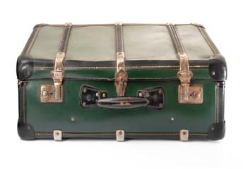 valigia vintage verde