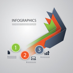 Infographics Design Template - Numbered Ribbons