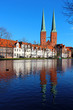 Lubeck Cathedral and old town, Germany