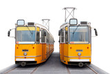 Orange Budapest trams