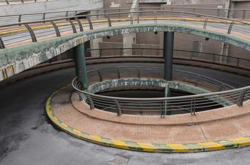 Spiral entrance parking