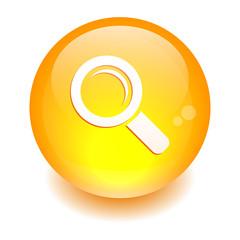 bouton internet loupe zoom orange